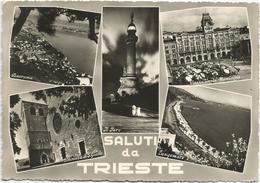 Y3488 Saluti Da Trieste - Panorama Vedute Multipla / Viaggiata 1957 - Trieste