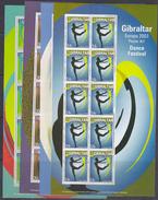 Europa Cept 2003 Gibraltar 4v  4 Sheetlets ** Mnh (F6462° GALAXY PRICE - Europa-CEPT