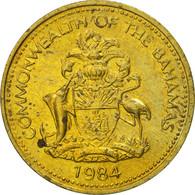 Bahamas, Elizabeth II, Cent, 1984, Franklin Mint, SPL, Laiton, KM:59 - Bahamas