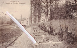 BONNINES - Tombes De Soldats Allemands - Carte Circulée Sous Domination Allemande En 1915 - België