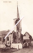 BONNINES - L'Eglise (en Partie Détruite Bombardement?) - Carte Circulée Sous Domination Allemande En 1915 - Other