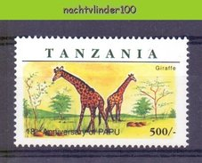 Mrg047 FAUNA ZOOGDIEREN GIRAF GIRAFFE MAMMALS TANZANIA 1998 PF/MNH - Giraffes