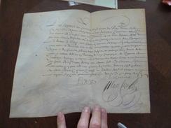Sur Velin Régiment De Cavalerie De Grigny Juin 1648 Reçu De 1300 Livres Tille Castillon Par Louis Delorme Autographe - Documents