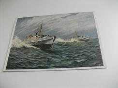 NAVE SHIP GUERRA A. VON. VOLBORTH SCHNELBOOTE ILLUSTRATORE F.C. - Guerra