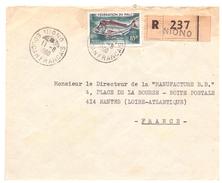 Lettre Recommandée De NIONO SOUDAN FRANCAIS (Poisson) - Soudan (1954-...)
