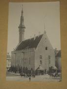 Cpa Carte Photo Rppc Estonie Estonia - TALLINN - Photographe Parikas 1929 - Hotel De Ville - Animée - TBE - Estonia
