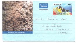 Aérogramme MAURITUS  (Poisson) - Maurice (1968-...)