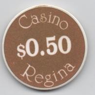 Lot De 2 Jetons De Casino Au Canada : Casino Regina $0.50 & $2 - Casino