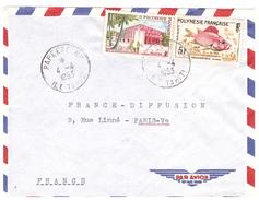 Lettre Par Avion (Poisson-Hotel Des Postes) - Tahiti