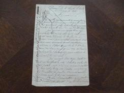 1871 Répression Après La Commune LAS Autographe Jahet Prisonnier à La Prison De La Santé Qui Clame Son Innocence. - Manoscritti