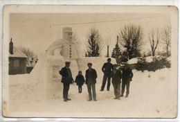 25. Carte Photo. Soldat Fait En Neige. Poto Dragio Pontarlier - Pontarlier