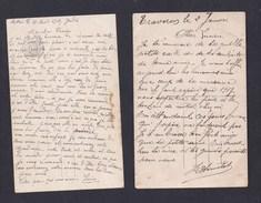 Guerre 14-18 Correspondance Louis Hemelot Heudicourt Luc En Diois 40è Artillerie à Son Fils Lucien 2 CPA Patriotiques - 1914-18