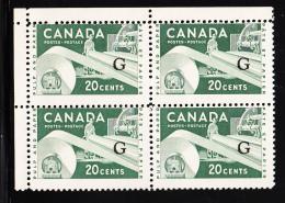 Canada MNH Scott #O45a Flying 'G' Overprint On 20c Paper Industry Blank Upper Left Corner - Officials