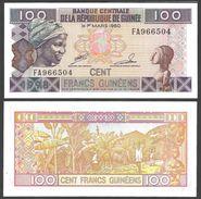 Guinea 100 FRANCS 1998 P 35 UNC - Guinea