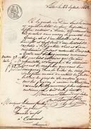 LILLE,22 Septembre 1842.AUGUSTIN LEFEBRE Voiturier à LIEVIN Conduira Au Magasin De LESUEUR FEUILLAY,marché Au Fil Amiens - Documents Historiques