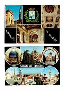 Lot 2 Cpm - ITALIE : THIENE - Saluti - Multivues - Intérieur église Blason - Italia