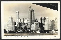 NEW YORK Skyline Of Lower Manhattan USA - Manhattan