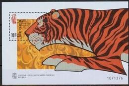 Macau MiNr. Bl. 50 **, Chinesisches Neujahr: Jahr Des Tigers - 1999-... Sonderverwaltungszone Der China