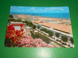 Cartolina Rimini - Molo - Lungomare - Spiaggia 1963 - Rimini