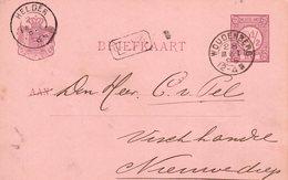 1895 Bk G 32  Van WOUDENBERG (kleinrond) Naar Nieuwediep Met Kleinrond Helder - Poststempel