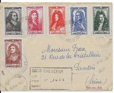 1944 - LIBERATION - LETTRE RECO De COUR CHEVERNY (LOIR ET CHER) ENCORE OCCUPEE => PANTIN DISTRIBUEE Après LIBERATION - Guerra De 1939-45