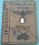 WW2 German, Nazi,5. SS Panzer Division Wiking   ID, Document Ausweis, Not Original (?) - 1939-45