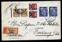 A4678) CSR Czechoslovakia R-Brief Von Prag 4.4.23 Nach Freiburg - Briefe U. Dokumente