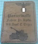 WW2 German SS Panzerwaffe Fahrer Pz.Kpfw.Tiger  ID, Document Ausweis, Not Original (?) - 1939-45