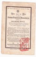 DP Joanna F. Dusarduyn ° Bouchaute Waterdyk Boekhoute Assenede 1787 † Watervliet 1863 X Const. Wyffels Terneuzen - Imágenes Religiosas