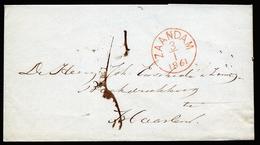 A4681) Niederlande Netherlands Brief Zaandam 3.1.61 Nach Haarlem - 1852-1890 (Wilhelm III.)