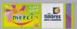 """Personnalisé  """" Merci """"  3433  Vignette Timbres Personnalisés Luxe XX  Bord De Feuille Année 2001 - Frankreich"""