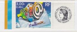 """Personnalisé  """" 3éme Millénaire """"   3365 A   Vignette Cérès Luxe XX   Bord De Feuille  Année 2000 - Personalisiert"""