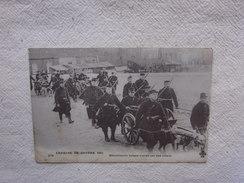 Cpa Croquis De Guerre 1915 Mitrailleuses Belges Trainées Par Des Chiens. - 1914-18