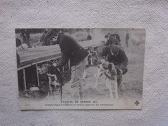Cpa Croquis De Guerre 1915 Soldats Belges Harnachant Les Chiens Militaires Des Mitrailleuses. - 1914-18