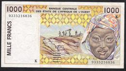 W.A.S. SENEGAL  P711Kc 1000 FRANCS (19)93  VF 2 P.h. ! - Sénégal