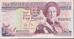 JERSEY P16a 5 POUNDS 1989  Signature 3  VF NO P.h. ! - Jersey