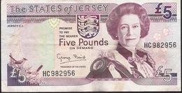 JERSEY P21 5 POUNDS 1993  Signature 4  VF NO P.h. ! - Jersey