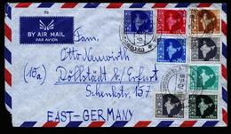 A4684) Indien India Brief 1958 Mit 7-Farben-Frankatur - 1950-59 Republik