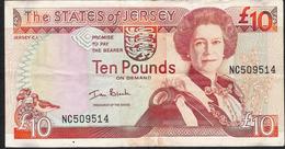 JERSEY P28a 10 POUNDS 2000  Signature Ian Black  VF NO P.h. ! - Jersey