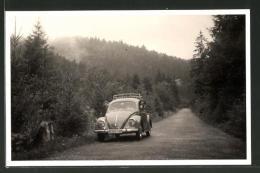 Photo-CPA Volkswagen VW Käfer Auf Waldstrasse - Turismo