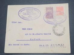 """BRÉSIL - 1er Vol """" Recife / Natal """" En 1930 , Affranchissement Plaisant - L 8264 - Brazil"""
