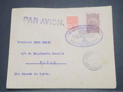 """BRÉSIL - 1er Vol """" Recife / Natal """" En 1930 , Affranchissement Plaisant - L 8265 - Brazil"""