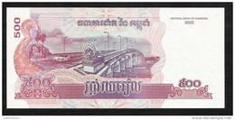CAMBODGE CAMBODIA P54a  500 RIELS  2002   X   10  PCS - Cambodia