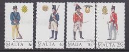 Malta 1988 Military Uniforms 4v ** Mnh (F6472) - Malta