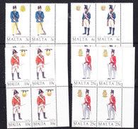 Malta 1988 Military Uniforms 4v  Bl Of 4 ** Mnh (F6472B) - Malta