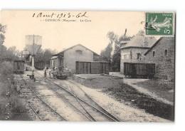 CPA 53 Gorron La Gare Et Le Train Tramway Ligne De Mayenne à St Jean Sur Erve - Gorron