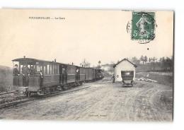 CPA 53 Fougerolles La Gare Et Le Train Tramway Ligne De Mayenne à St Jean Sur Erve - Autres Communes