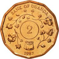 Uganda, 2 Shillings, 1987, FDC, Copper Plated Steel, KM:28 - Ouganda