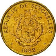 Seychelles, 5 Cents, 1982, British Royal Mint, FDC, Laiton, KM:47.1 - Seychelles