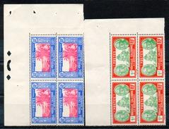 OCEANIE - Colonie Française (Nlle CALEDONIE) - 1939-40 - Blocs De 4 Des N° 182 Et 184 - Nouvelle-Calédonie